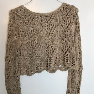 CLARA VITTI Cropped crochet top